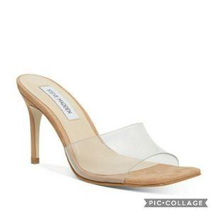 Nib! Steve madden clear square toe avoid heels 6.5